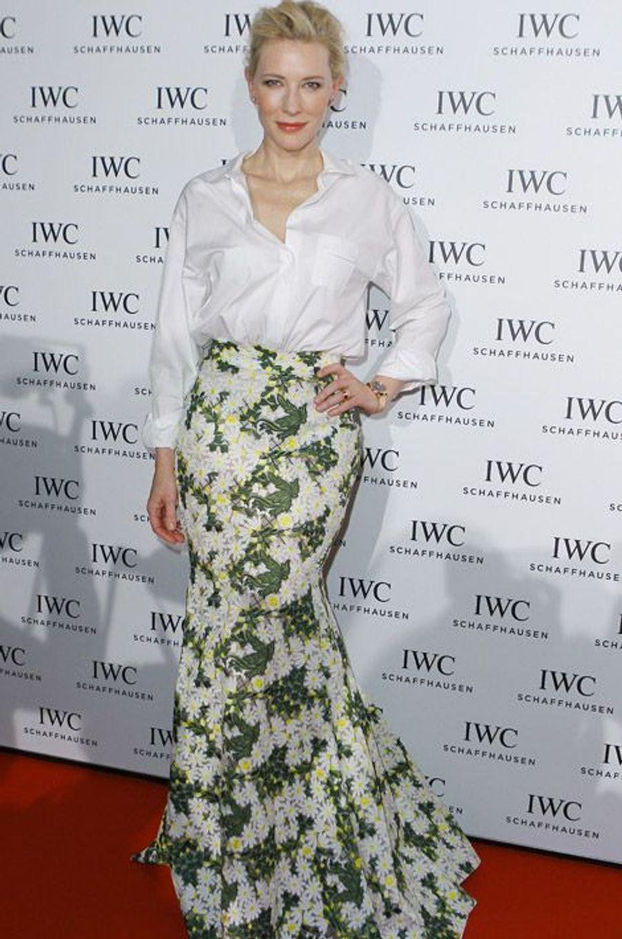 L'actrice Cate Blanchett en Giambattista Valli lors d'une soirée de gala à Zurich, le 27 septembre 2014