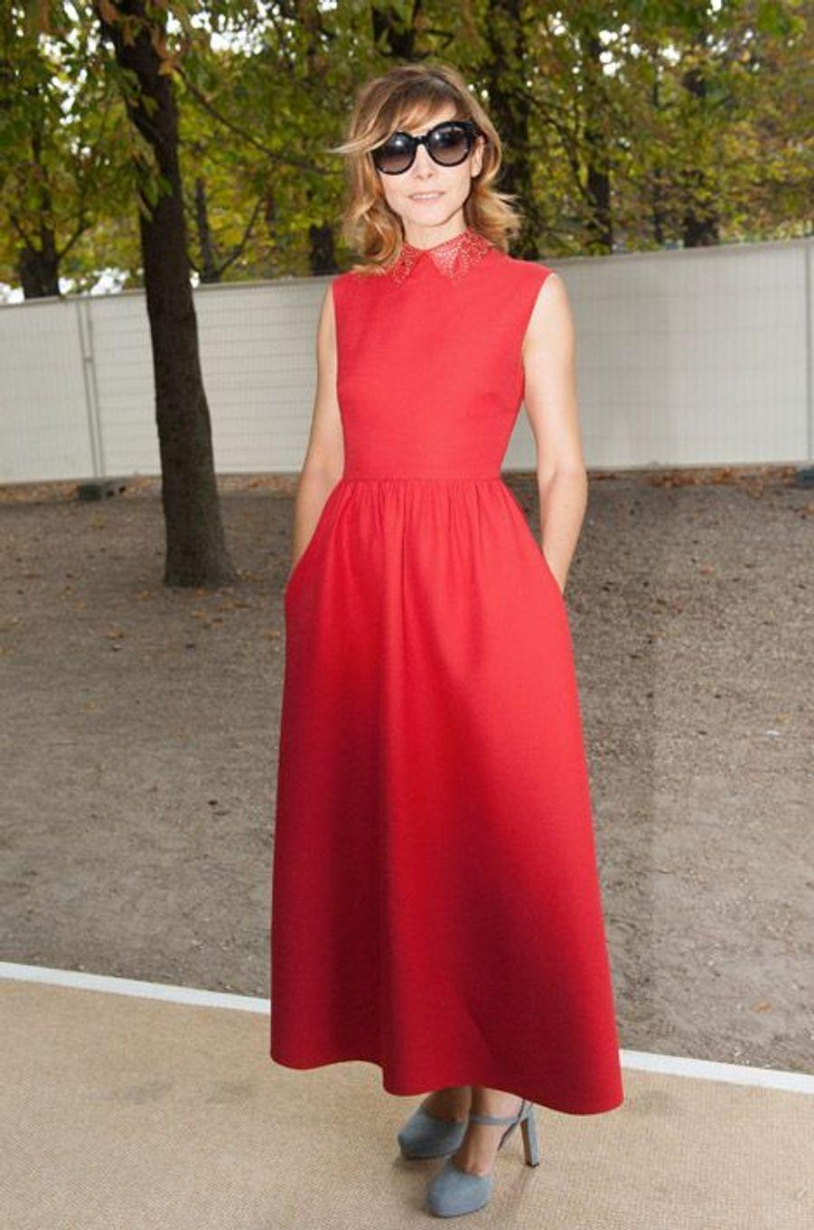L'actrice franaçaise Clotilde Courau au défilé Valentino le 30 septembre 2014 à Paris