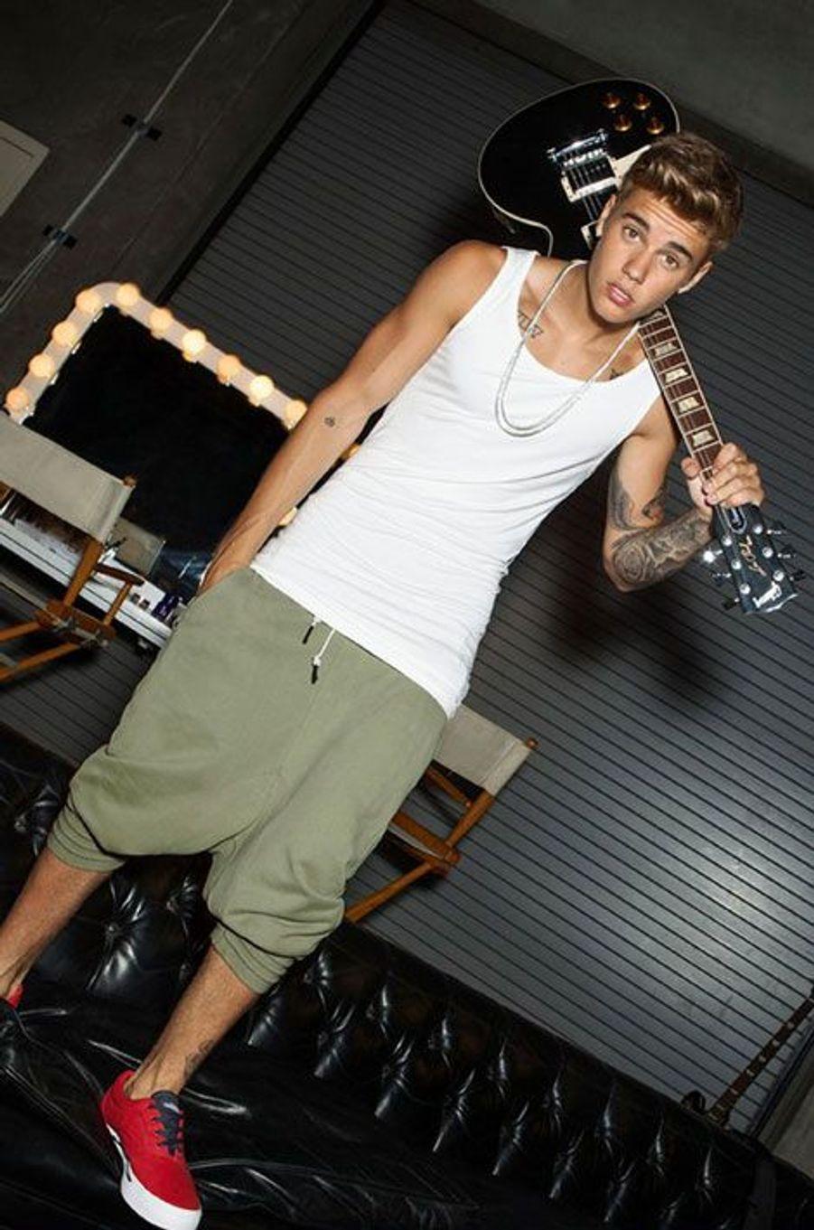 Justin Bieber, apprenti mannequin