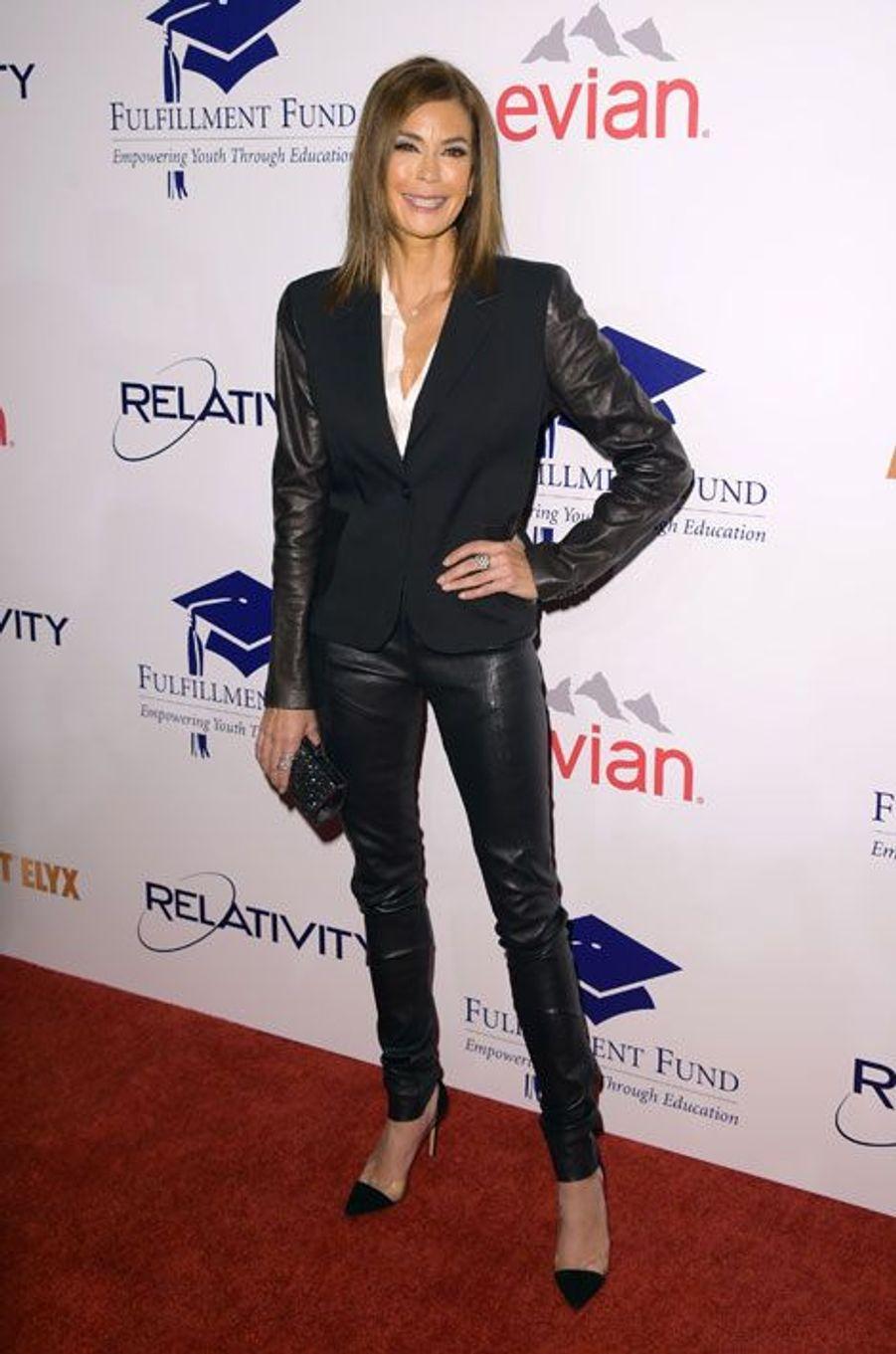 """L'actrice de la série """"Desperate Housewives"""", Teri Hatcher, lors d'une soirée caritative à Los Angeles, le 14 octobre 2014"""