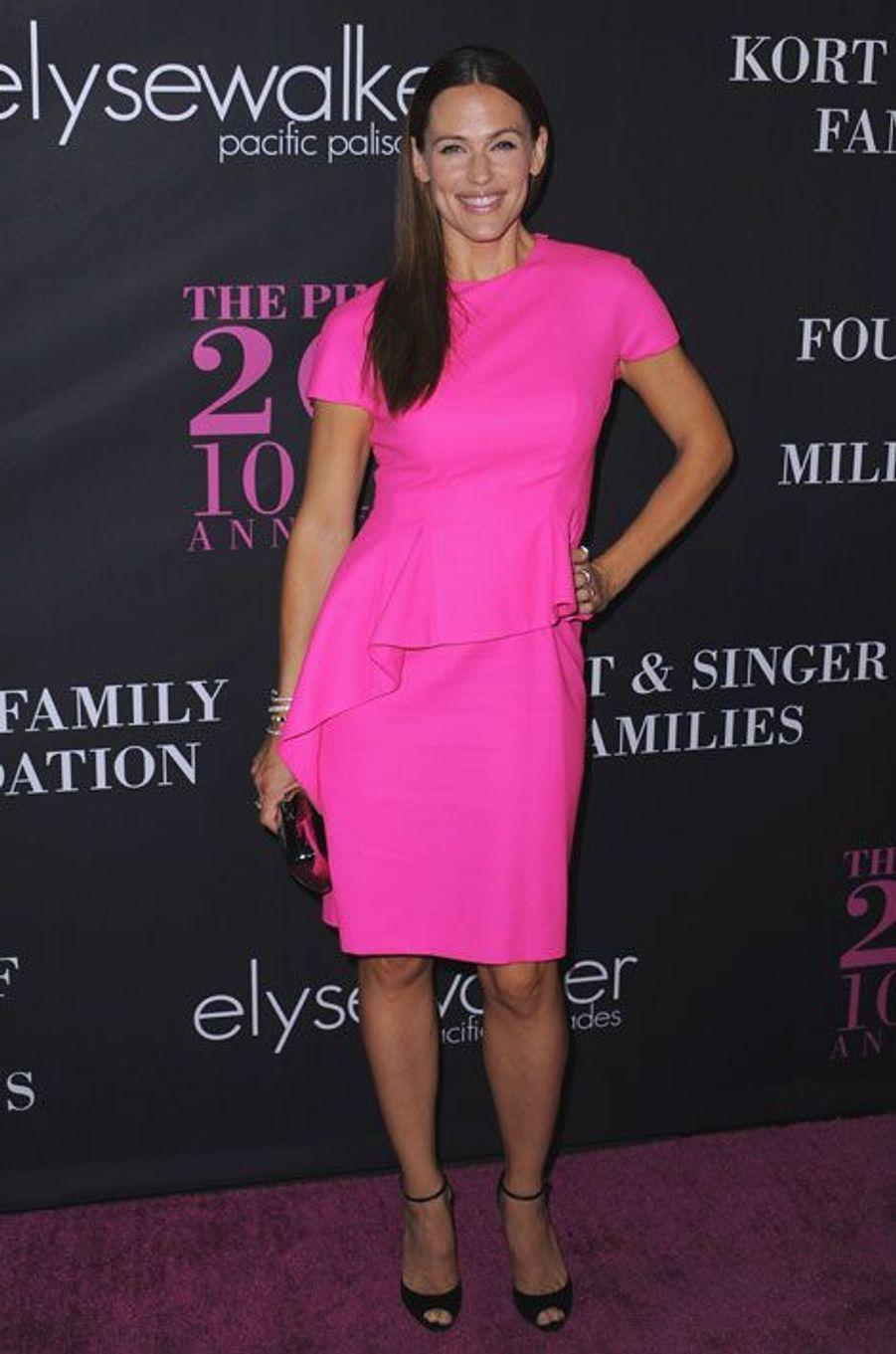 L'actrice et femme de Ben Affleck, Jennifer Garner, lors d'une soirée contre le cancer du sein à Santa Monica, le 18 septembre 2014