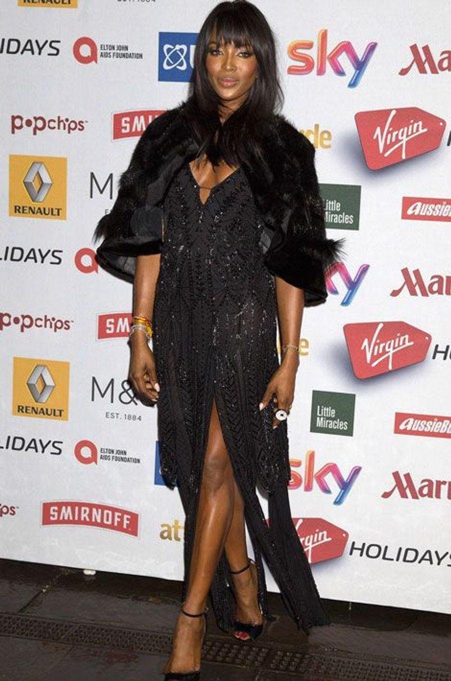 Le top-modèle Naomi Campbell à la soirée Attitude Awards à Londres, le 13 octobre 2014