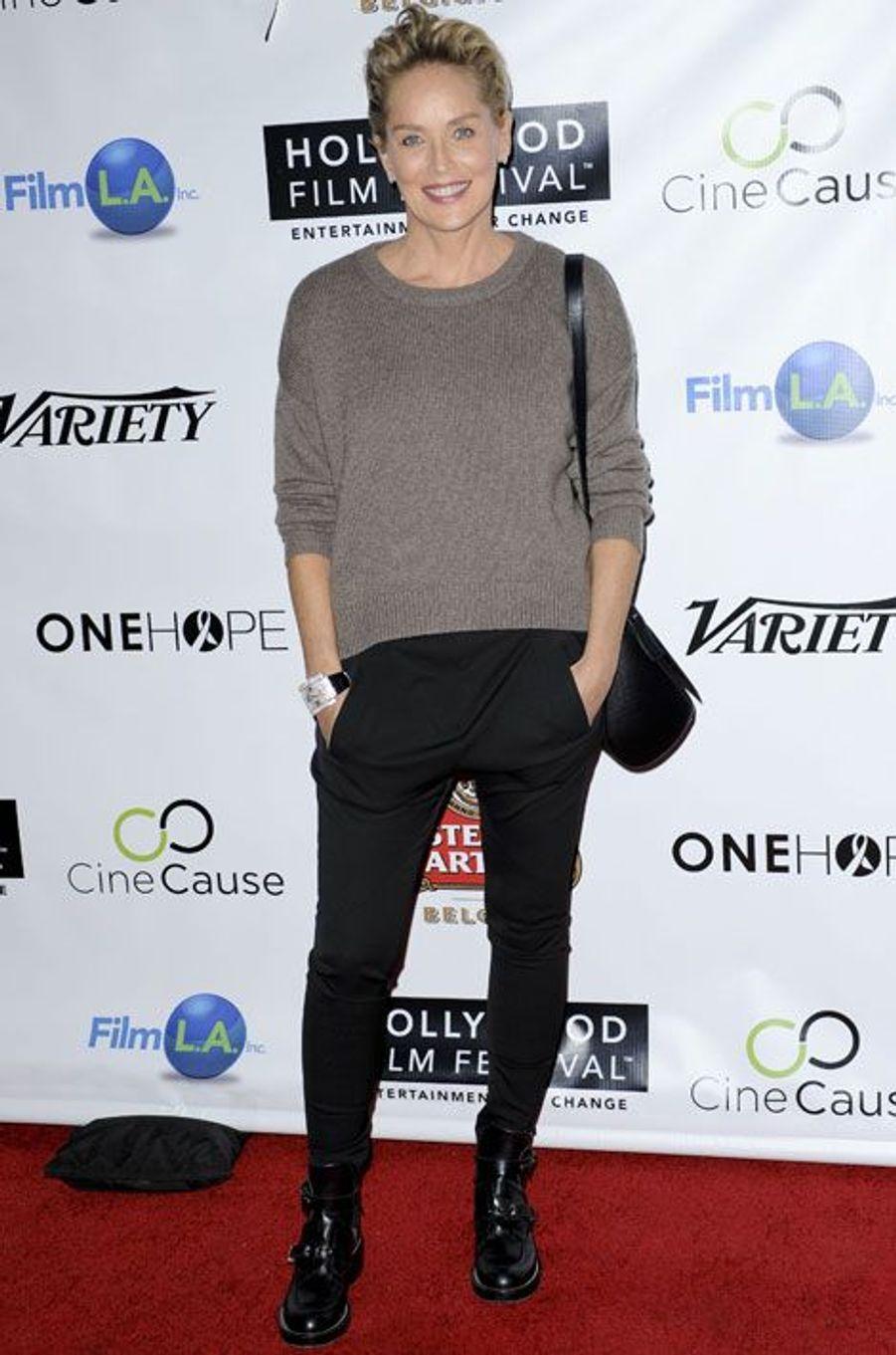 Sharon Stone lors du fetival du film d'Hollywood, le 16 octobre 2014