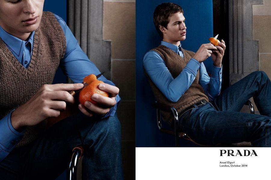 Ansel Elgort pour Prada Printemps-Eté 2015