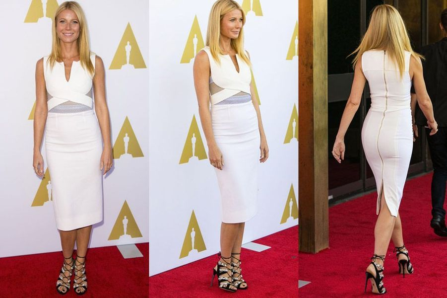 L'actrice Gwyneth Paltrow en Roland Mouret, lors de la soirée Hollywood Costume Private Luncheon le 8 octobre 2014