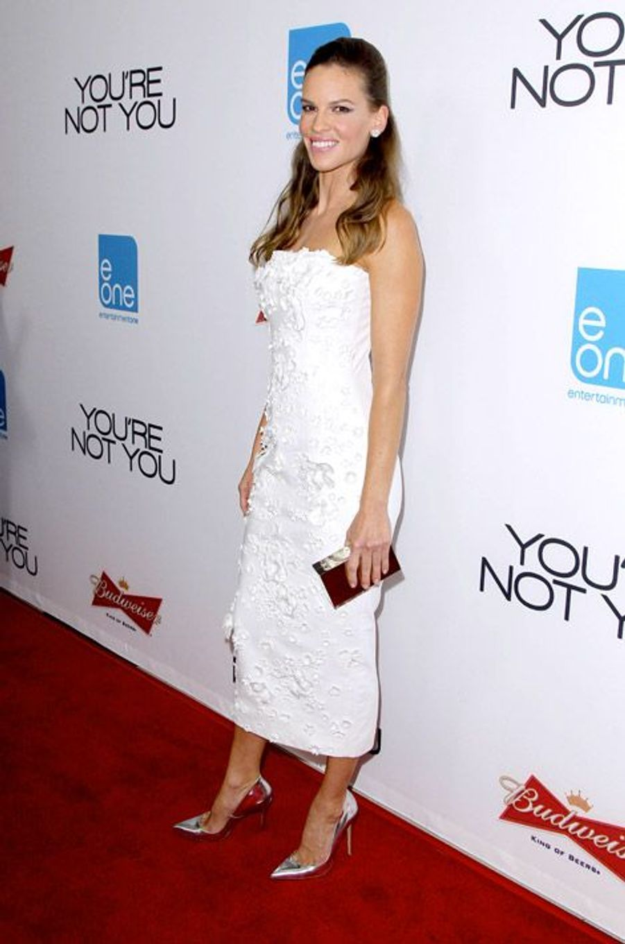 "L'actrice Hilary Swank en Nicholas Oakwell lors de la première du film ""You're Not You"", à Los Angeles, le 9 octobre 2014"