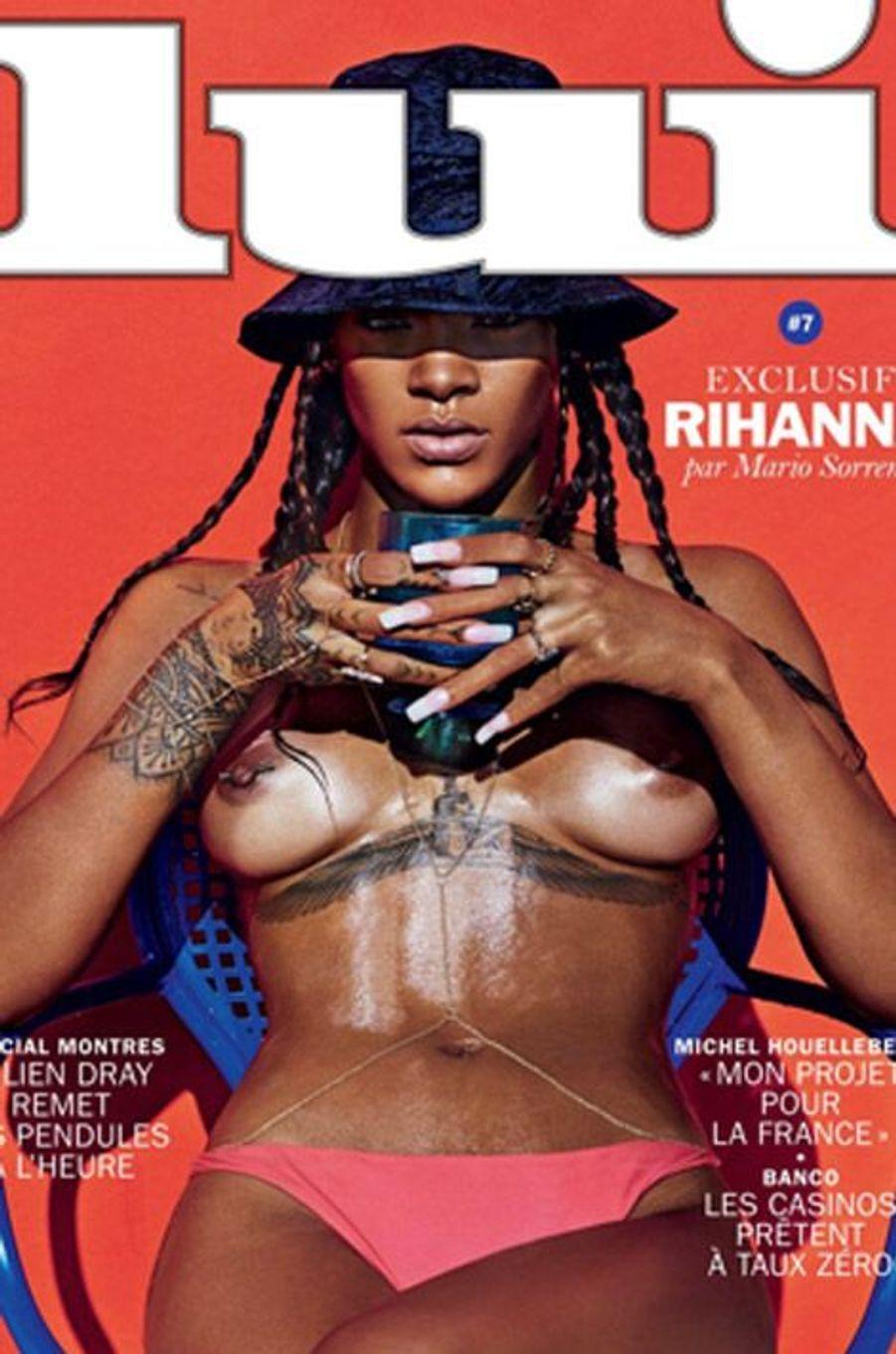 """La chanteuse Rihanna pose nue pour le numéro de mai 2014 du magazine français """"Lui"""""""