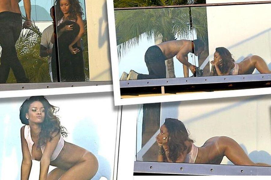"""Le magazine """"Lui"""" dévoile sur son compte Twitter le shooting photo de Rihanna, vedette de son numéro du mois de mai"""