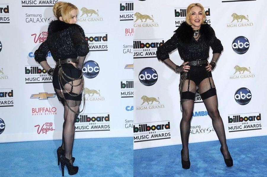 Madonna en culotte noire lors de la soirée Billboard 2013, le 19 mai 2013