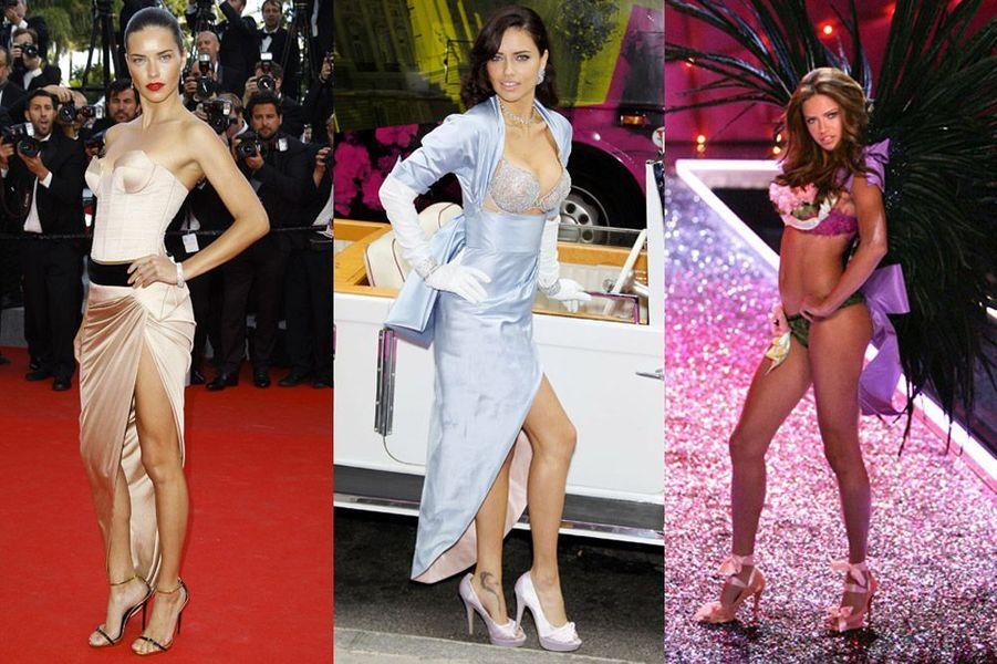 Adriana Lima, 33 ans, figure parmi les mannequins les mieux payés du monde et a défilé pour Givenchy, Armani, Valentino, Dior