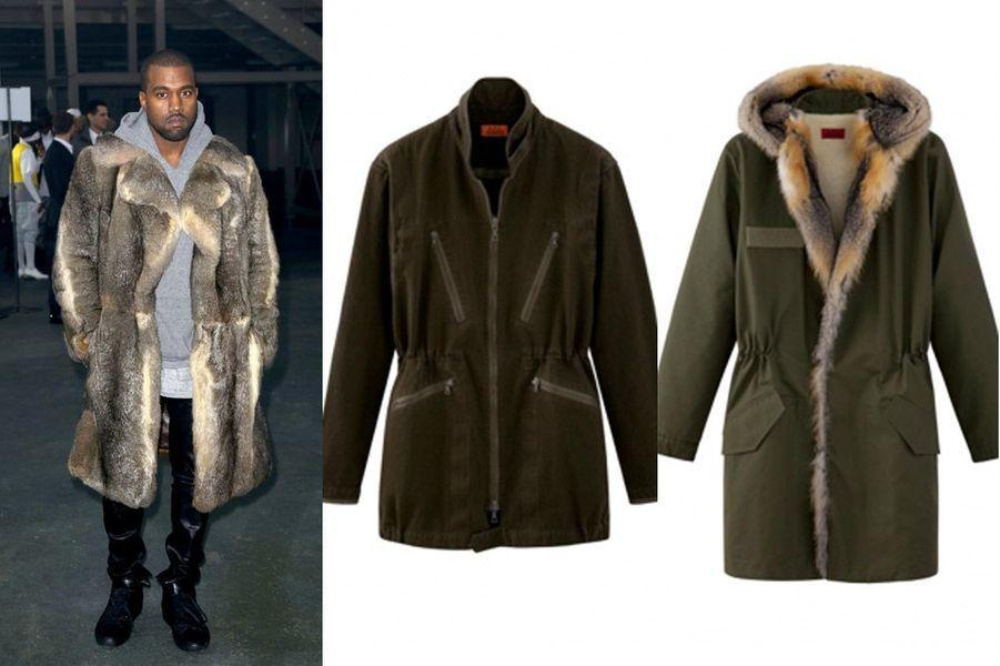 APC x Kanye West En véritable féru de mode, le rappeur américain Kanye West aurait bien aimé imaginer la collection automne-hiver 2014-2015 d'A.P.C. dans son intégralité. Le créateur de la marque française, Jean Touitou, a dû calmer ses ardeurs en lui octroyant le droit de penser 16 pièces pour homme. Résultat: un style très army composé d'une parka doublée en fourrure de renard, de jeans et de chemises dans des tons neutres, du kaki au bleu denim, en passant par les intemporels noir et beige.Déjà en ligne pour des prix allant de 80 à 1950 euros, cette deuxième collection risque d'être rapidement épuisée. La première collaboration de Kanye West et A.P.C. en 2013 avait été vendue en une journée.