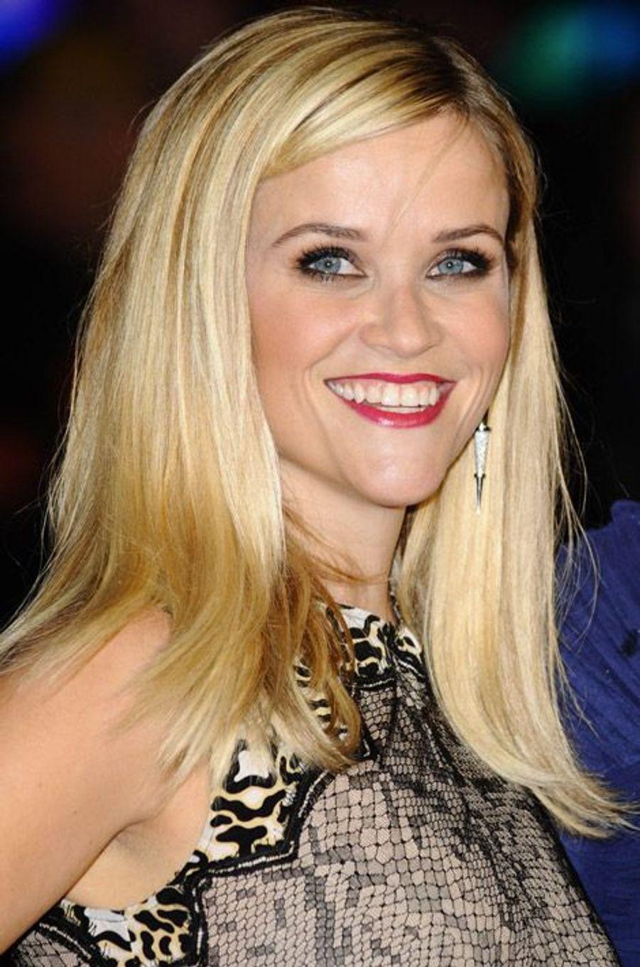 """L'actrice Reese Witherspoon lors de la première du film """"Wild"""" à Londres, le 13 octobre 2014"""