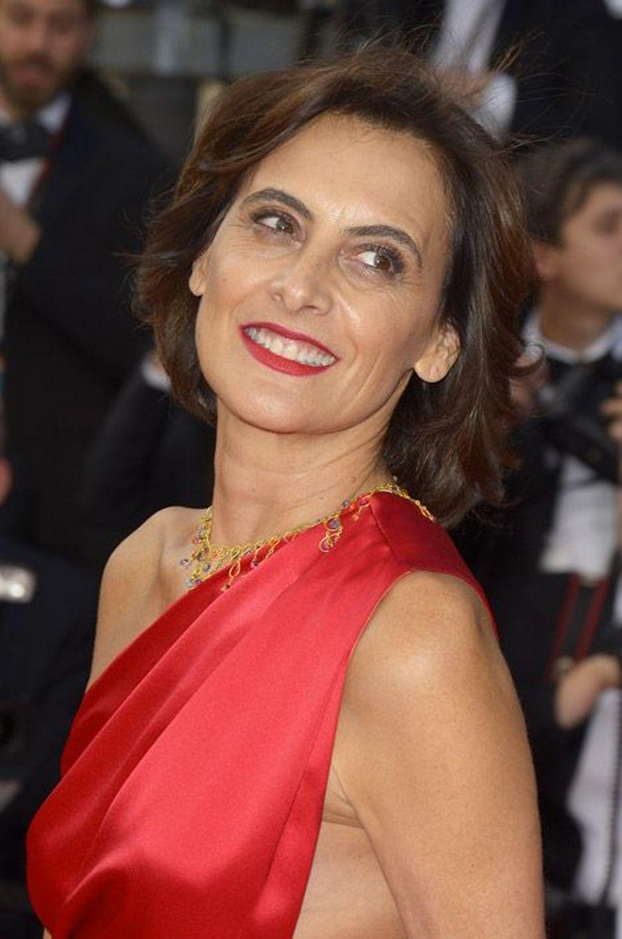 L'ancien mannequin Inès de la Fressange lors du festival de Cannes, le 16 mai 2014