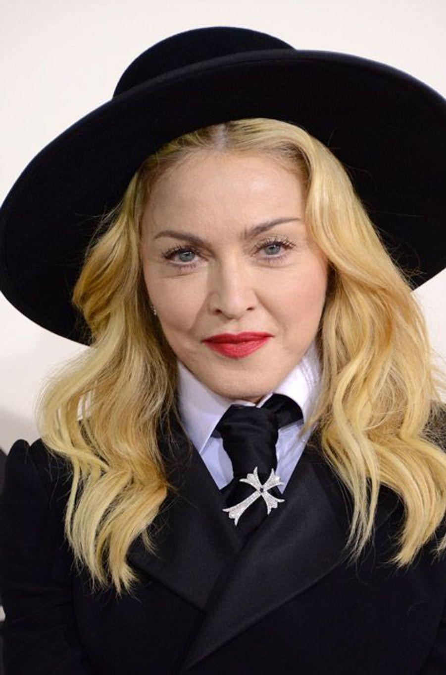 Madonna lors de la cérémonie des Grammy Awards à Los Angeles, le 26 janvier 2014
