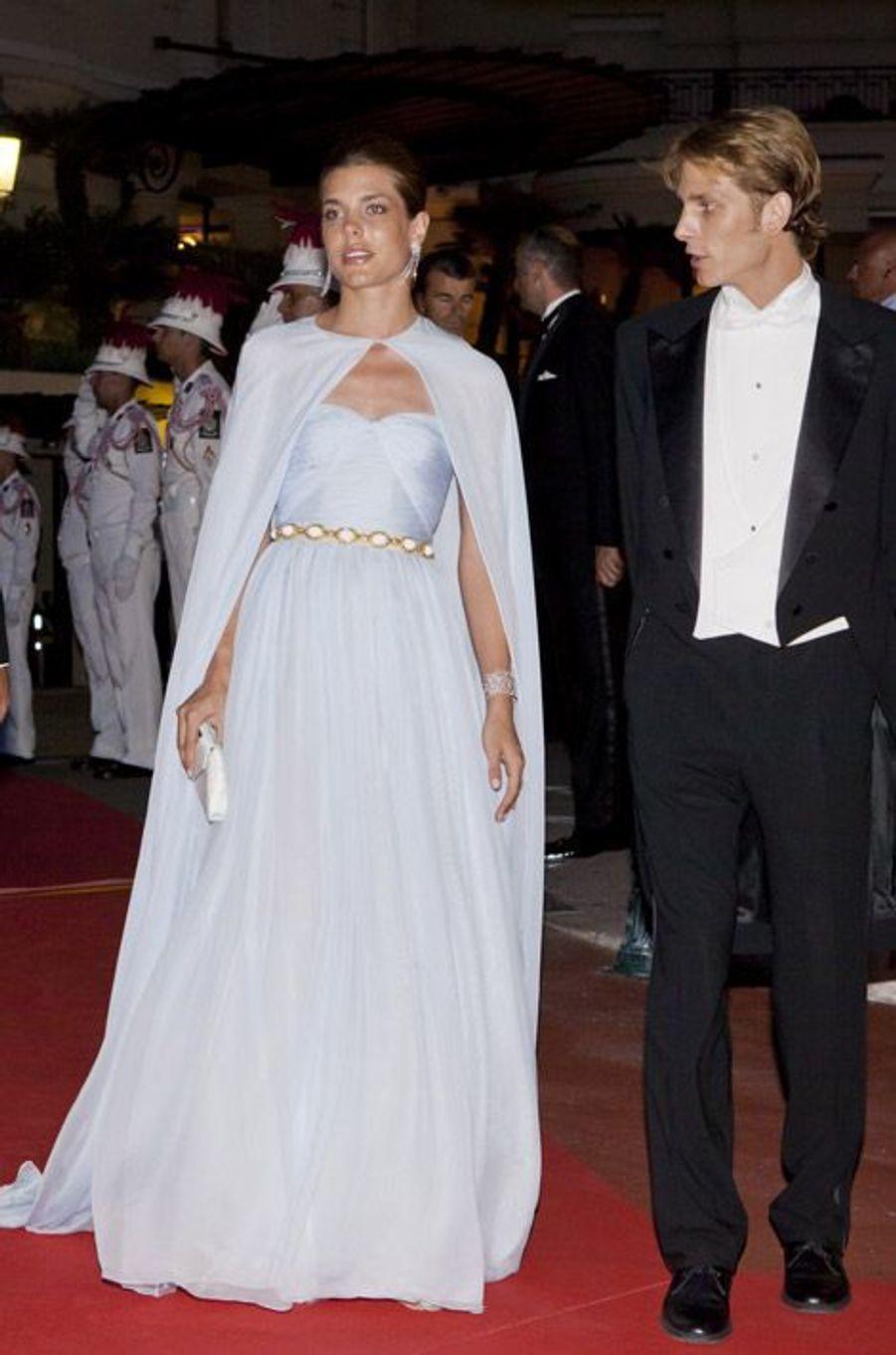 Charlotte Casiraghi, la fille de Caroline de Monaco, lors du mariage du Prince Albert et de Charlène Wittstock, à Monaco, le 2 juillet 2011