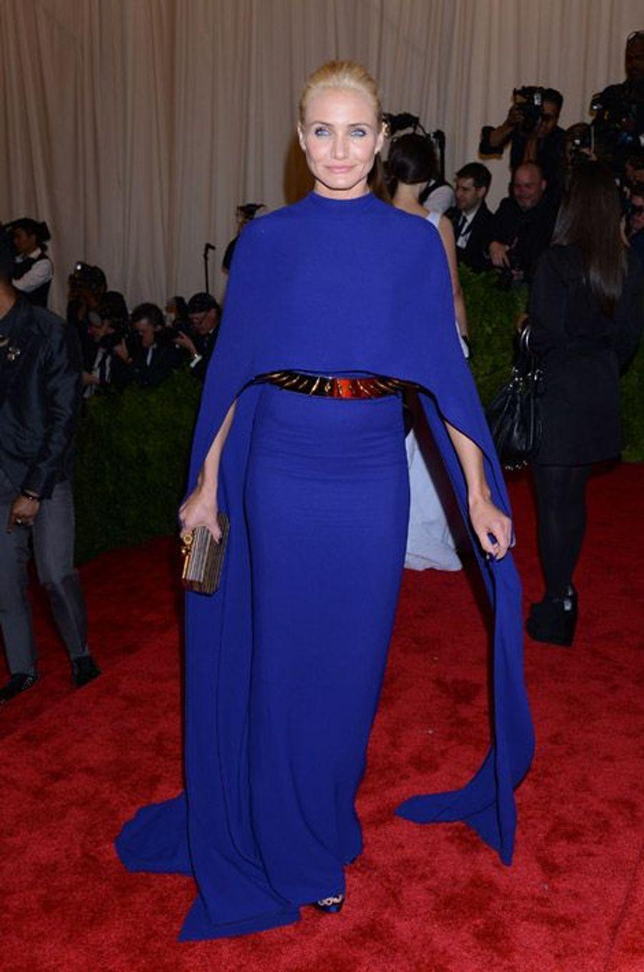 L'actrice Cameron Diaz en Stella McCartney au gala du Met à New York, le 6 mai 2013