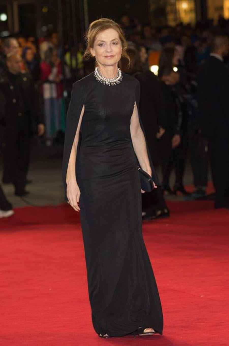 L'actrice française Isabelle Huppert au Festival du film du Marrakech le 6 décembre 2014