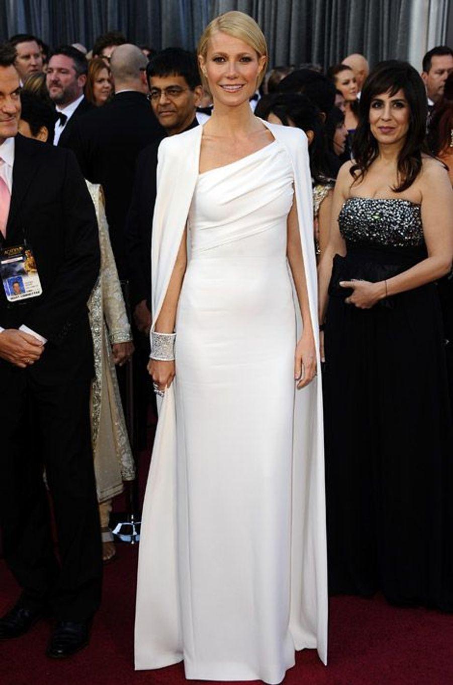L'actrice Gwyneth Paltrow en Tom Ford, lors de la cérémonie des Oscars, le 26 février 2012