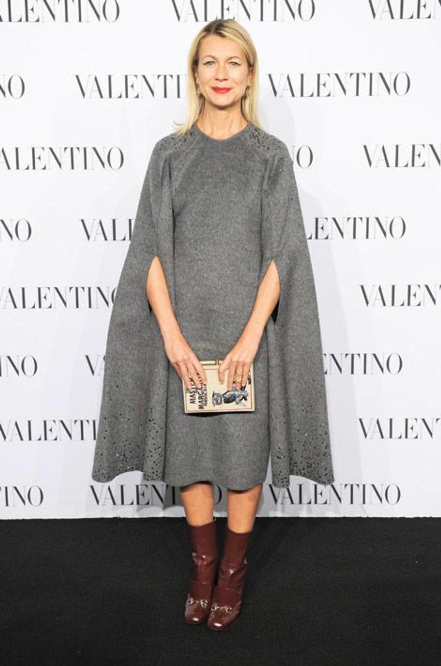 La styliste Natalie Joos lors de la soirée Valentino Sala Biance à new York, le 11 décembre 2014