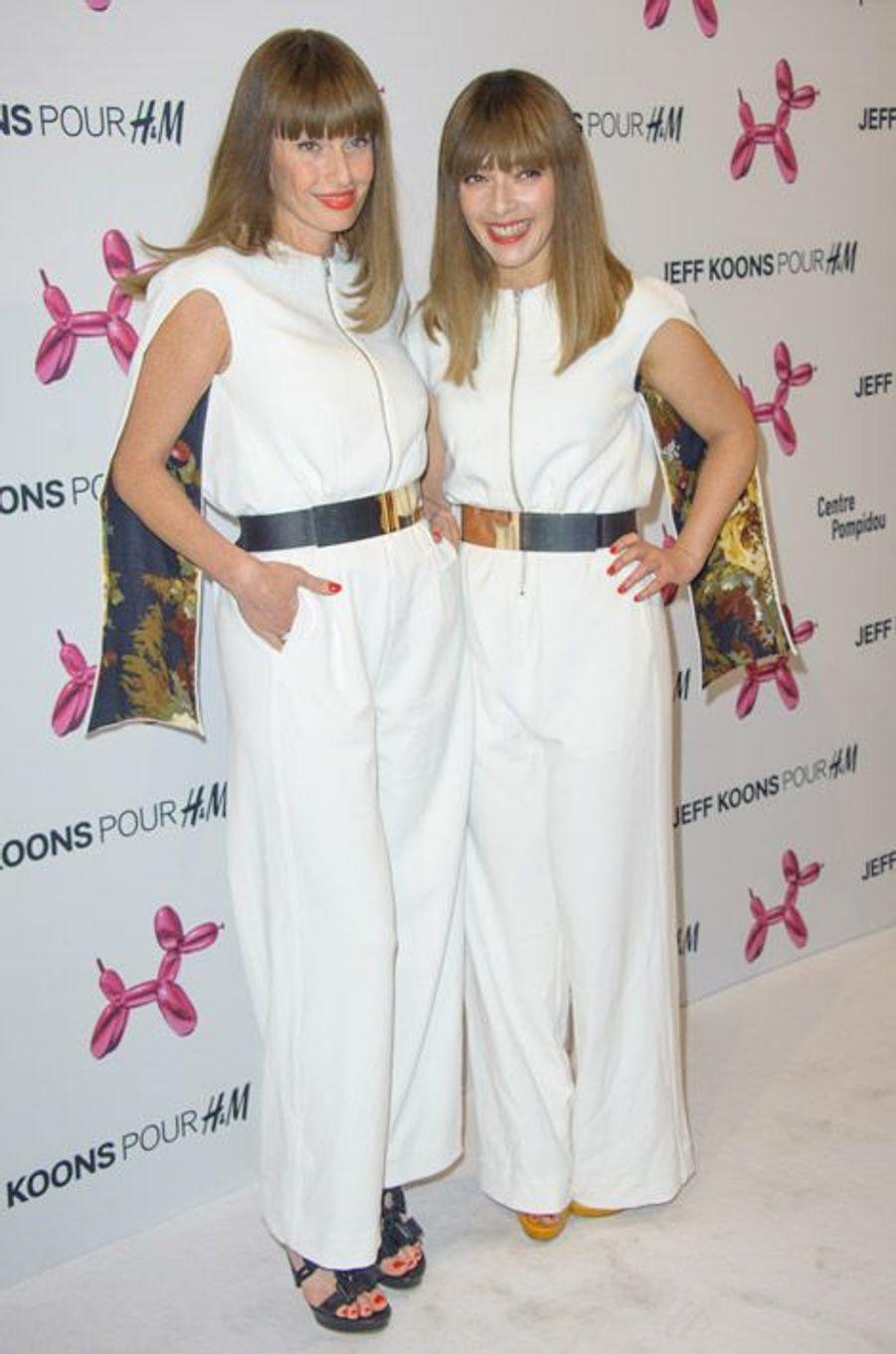 Le duo français Brigitte lors de la soirée H&M et Jeff Koons à Paris, le 9 décembre 2014
