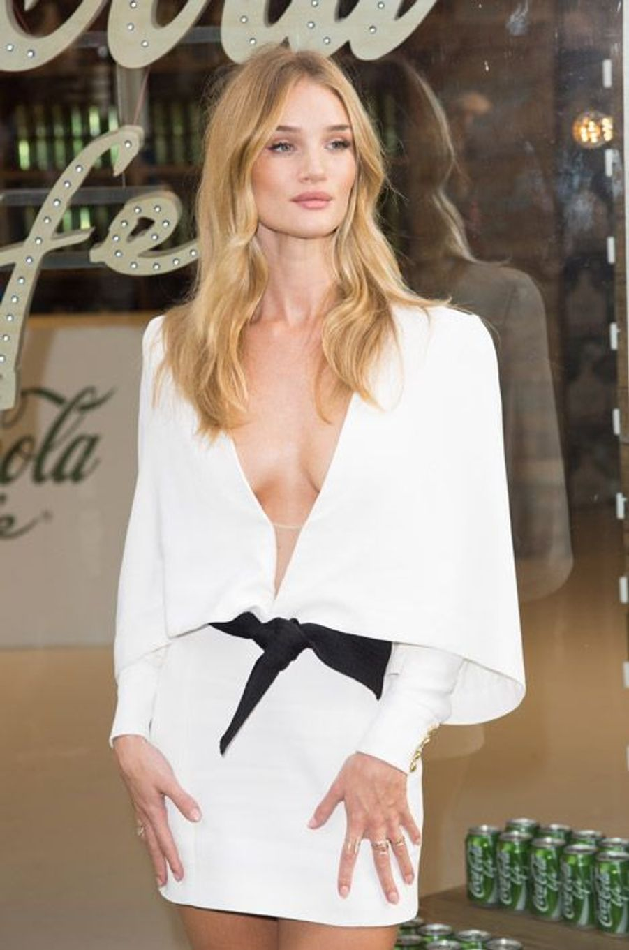 Le mannequin Rosie Huntington-Whiteley à Londres, le 19 septembre 2014