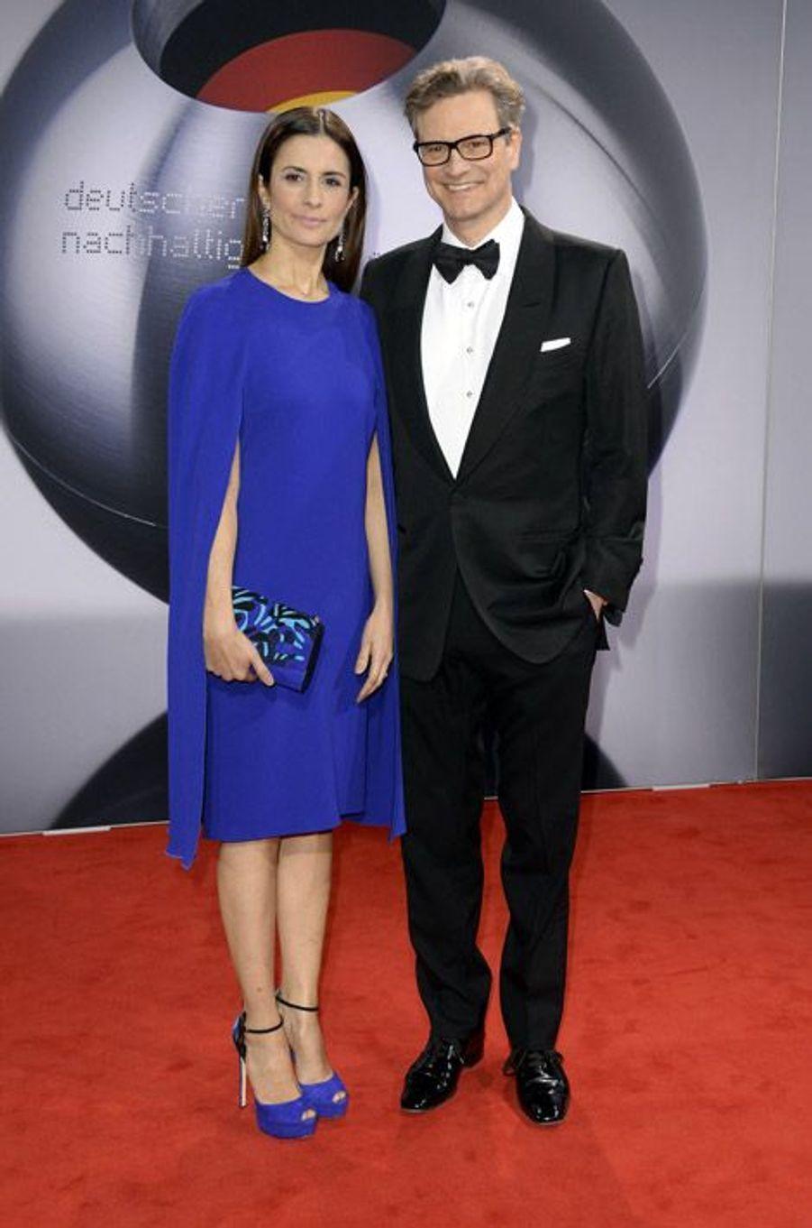 Livia Firth, la femme de Colin Firth, lors d'une soirée à Düsseldorf, le 28 novembre 2014