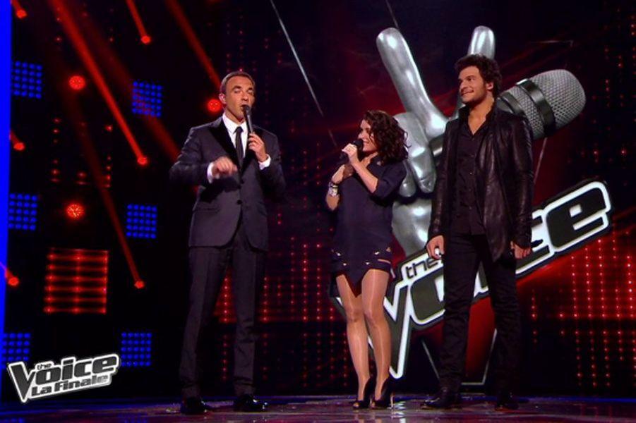 Sur le plateau de The Voice en Anthony Vaccarello