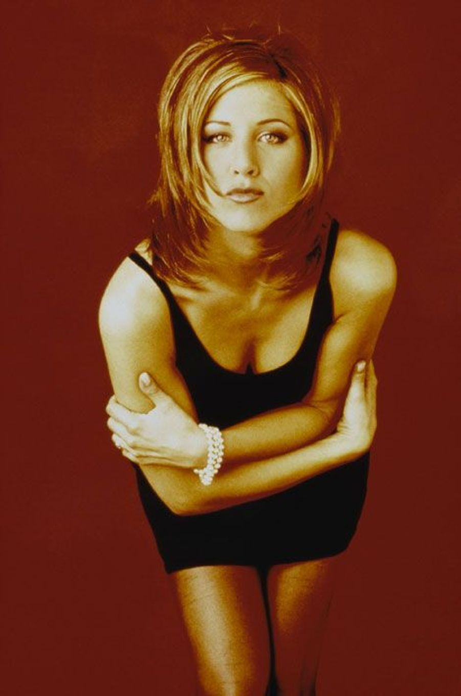 Jennifer Aniston pose pour la série Friends