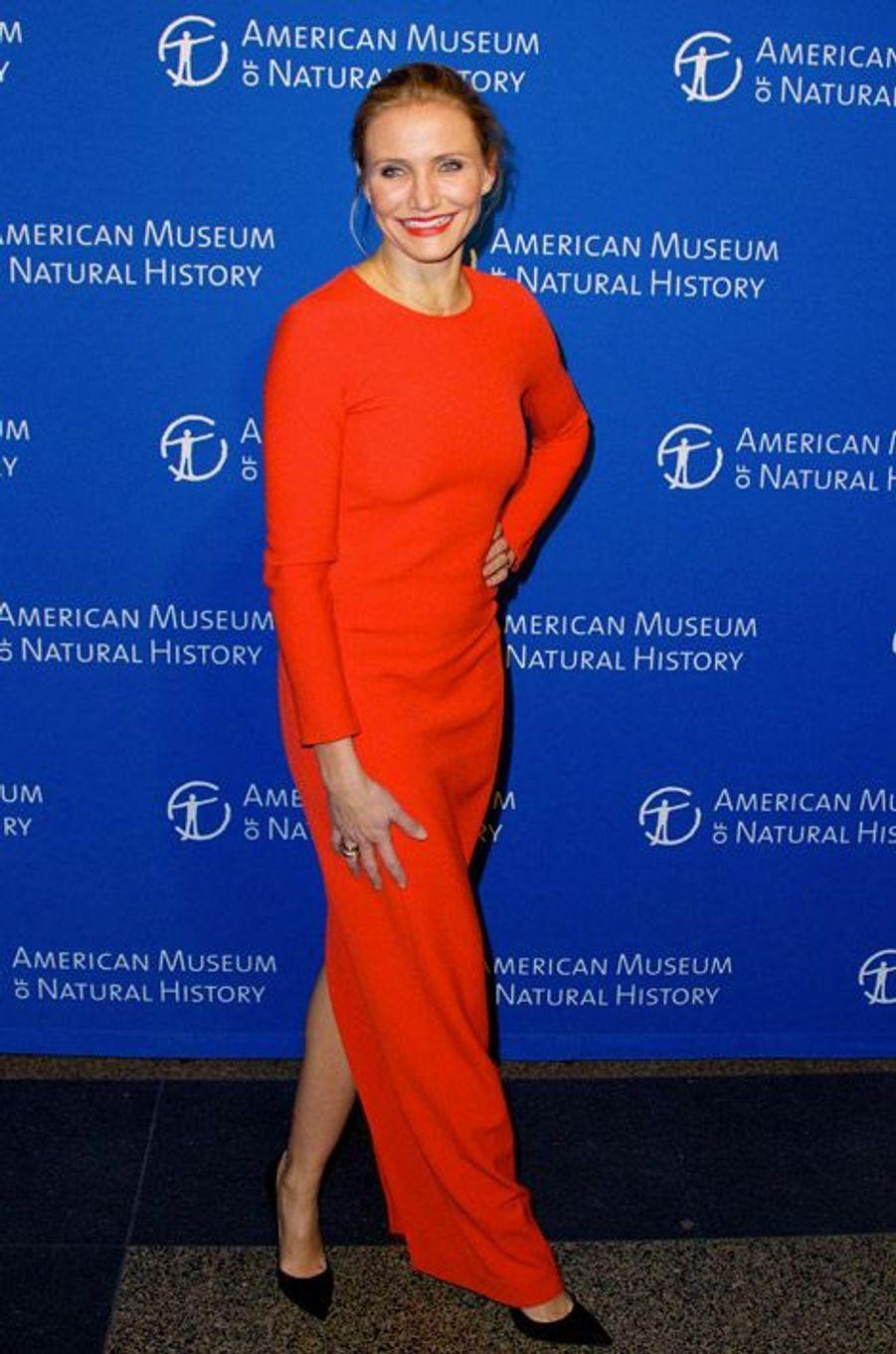 L'actrice Cameron Diaz au gala du musée d'histoire naturelle de New York, le 20 novembre 2014