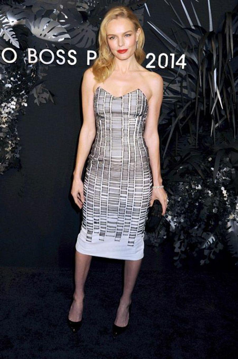 L'actrice Kate Bosworth en Hugo Boss pour une soirée organisée par la marque à New York, le 20 novembre 2014