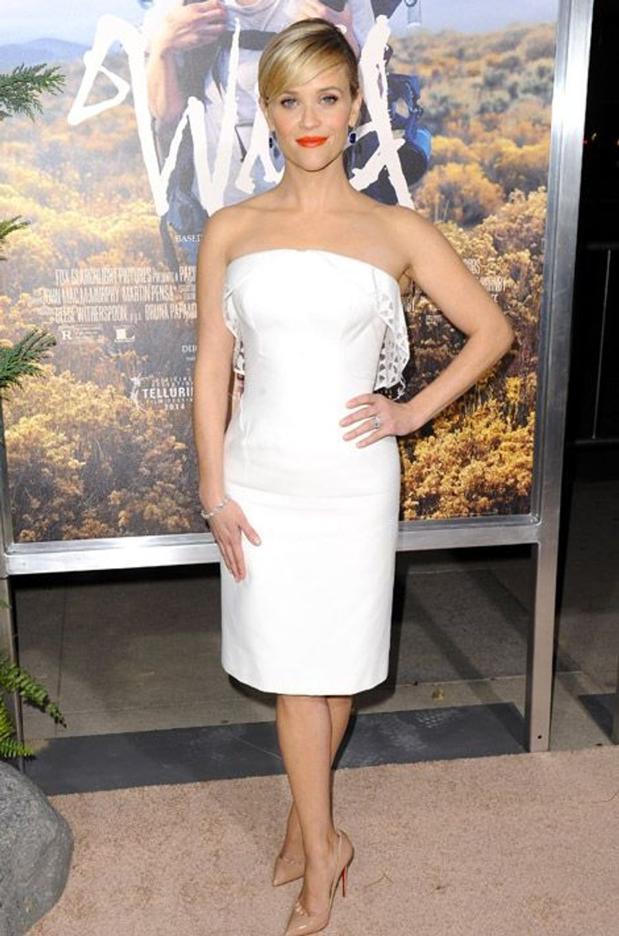 """L'actrice Reese Witherspoon en Zac Posen à la première du film """"Wild"""" à Los Angeles, le 19 novembre 2014"""