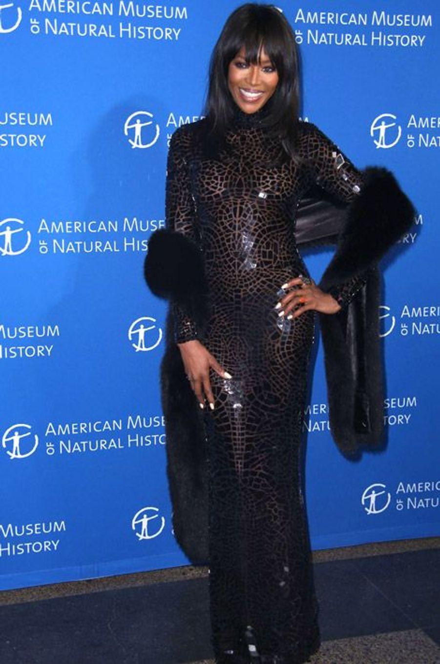 Le mannequin Naomi Campbell au gala du musée d'histoire naturelle de New York, le 20 novembre 2014