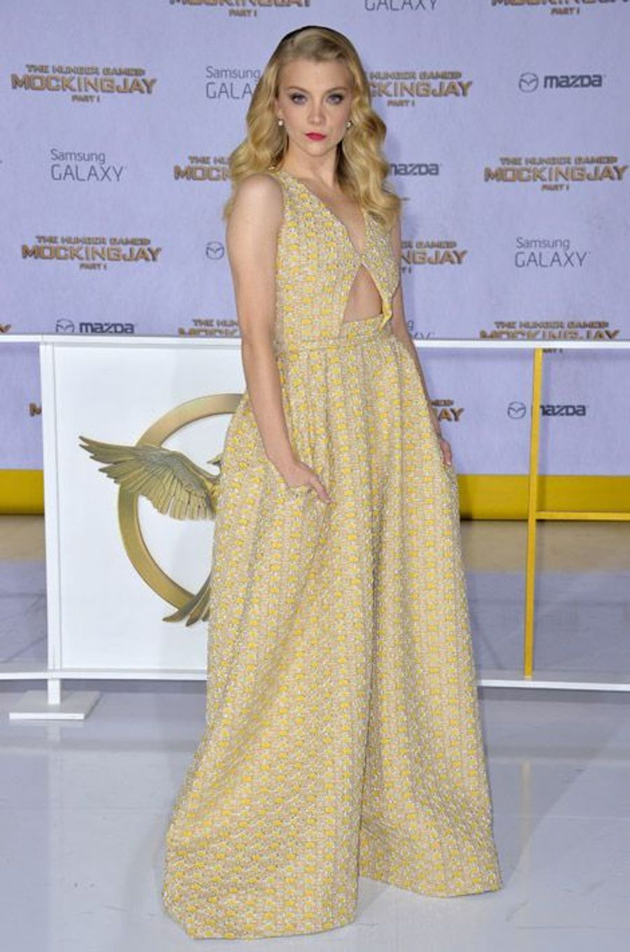 """Natalie Dormer en Rochas pour la première de """"Hunger Games: La Révolte, partie 1"""", le 17 novembre 2014 à Los Angeles"""