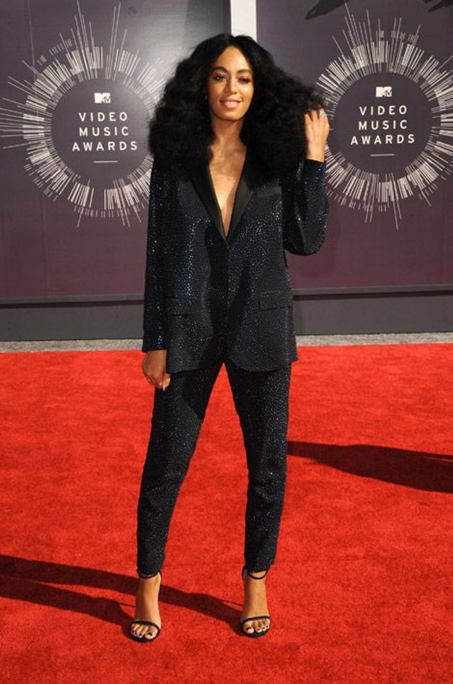 La chanteuse américiane Solange Knowles lors de la cérémonie des MTV Video Music Awards à Los Angeles, le 24 août 2014