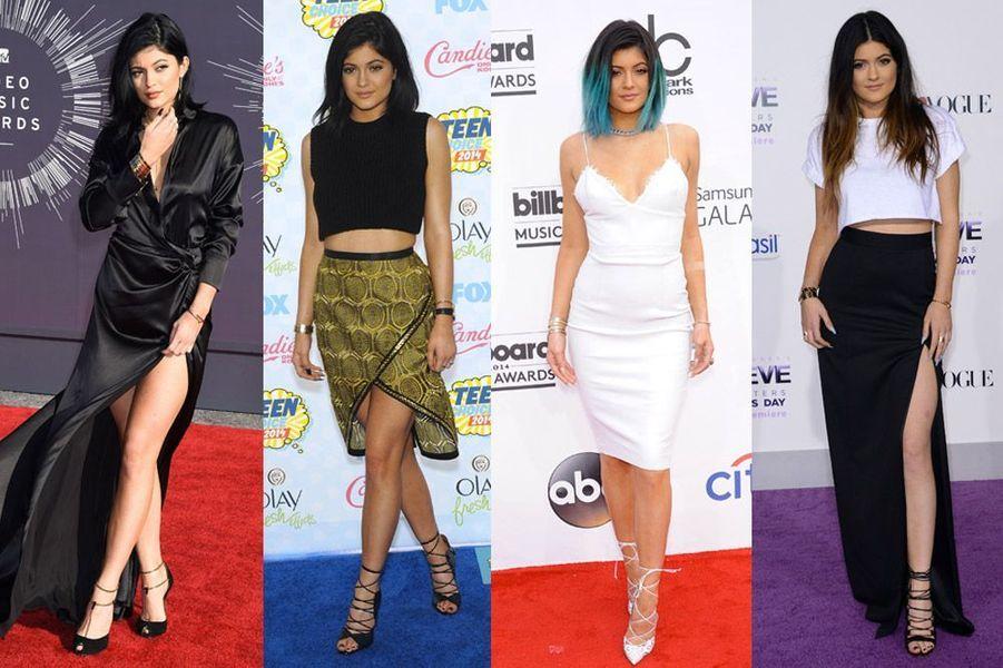 Kylie Jenner, 17 ans, suit les traes de sa soeur, Kendall Jenner, vêtue par les plus grands couturiers
