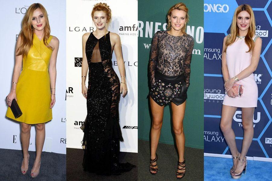 L'actrice Bella Thorne, 17 ans, habillée par Gucci ou Emilio Pucci entre autres