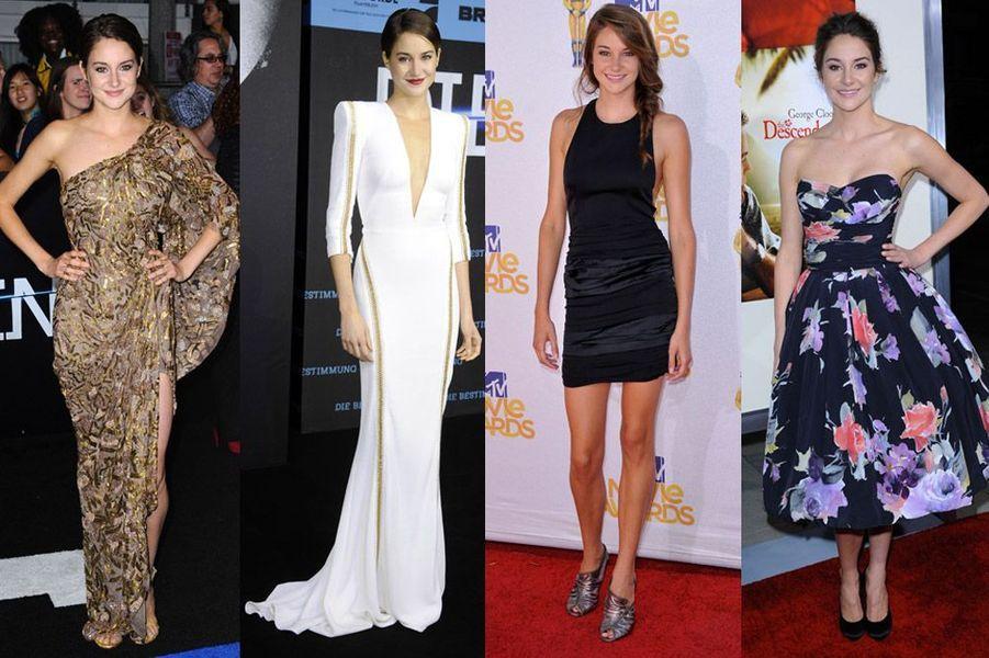 L'actrice Shailene Woodley, 22 ans, élégante à souhait, en coupe courte comme avec ses cheveux longs
