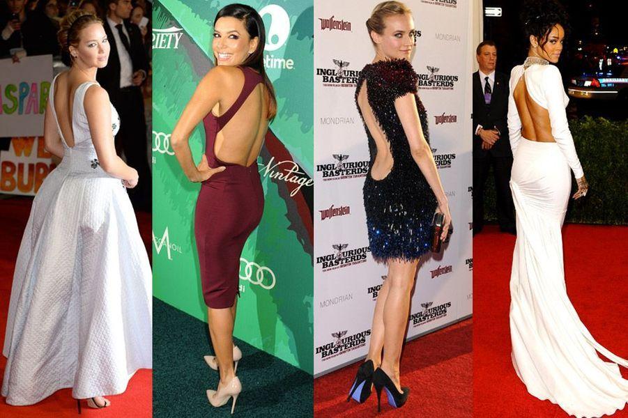 Jennifer Lawrene, Eva Longoria, Diane Kruger, Rihanna : les stars toutes folles de la robe dos nu et des décolletés dans le dos sexy