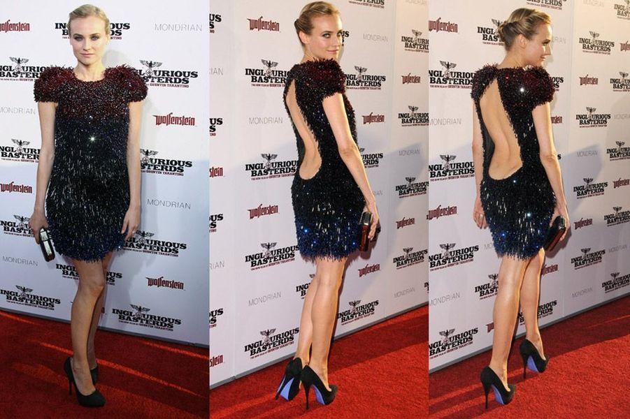 """L'actrice Diane Kruger lors de la première du film """"Inglorious Basterds"""" à Los Angeles, le 10 août 2009"""