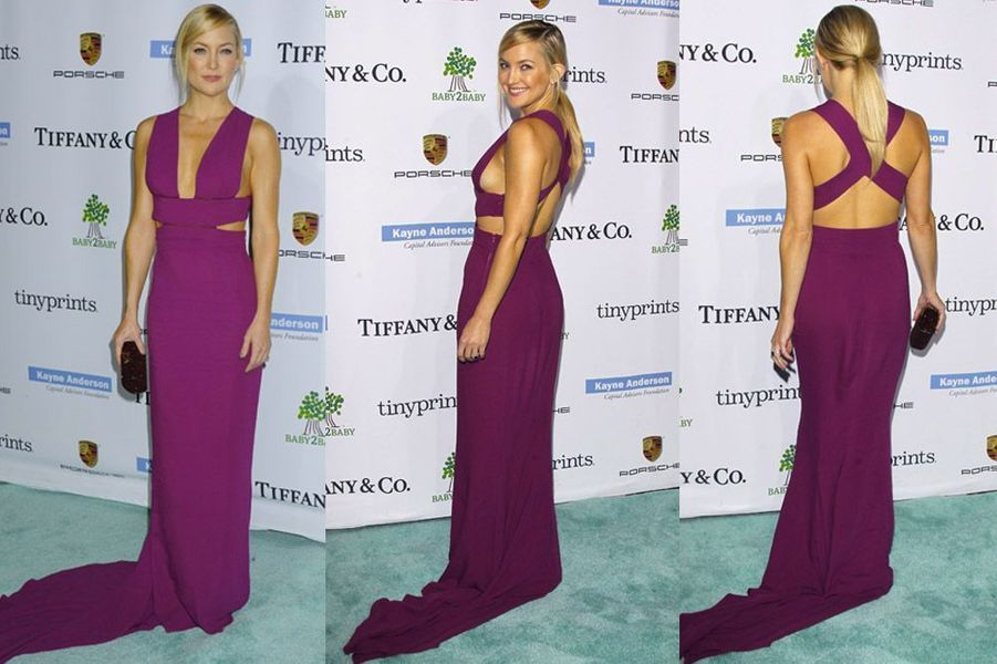 L'actrice Kate Hudson participe à une soirée donnée en son honneur, dans une robe signée Stella McCartney, en Californie, le 8 novembre 2014