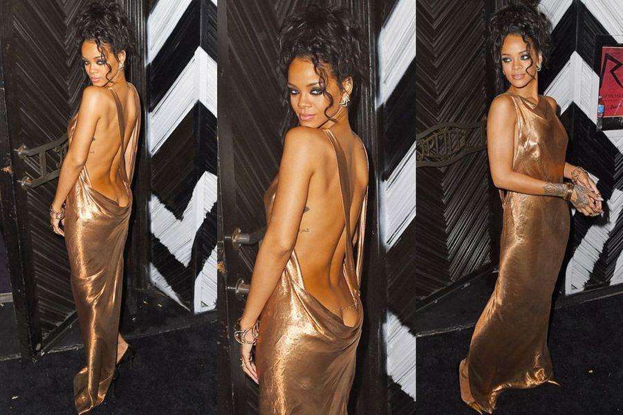La chanteuse Rihanna lors de la soirée suivant le gala du Met à New York, le 5 mai 2014