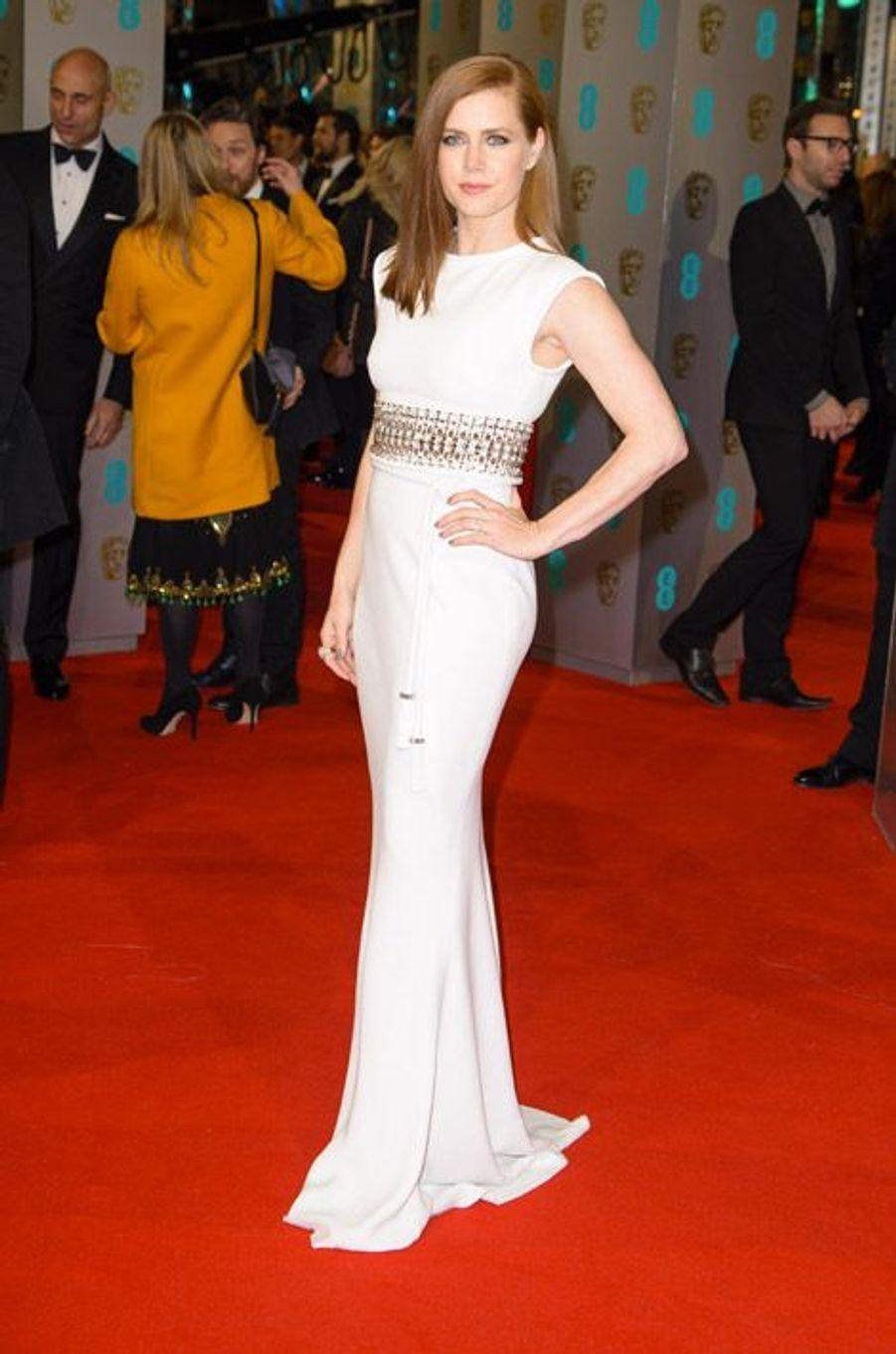 L'actrice Amy Adams en Lanvin lors de la cérémonie des BAFTA le 8 février 2015