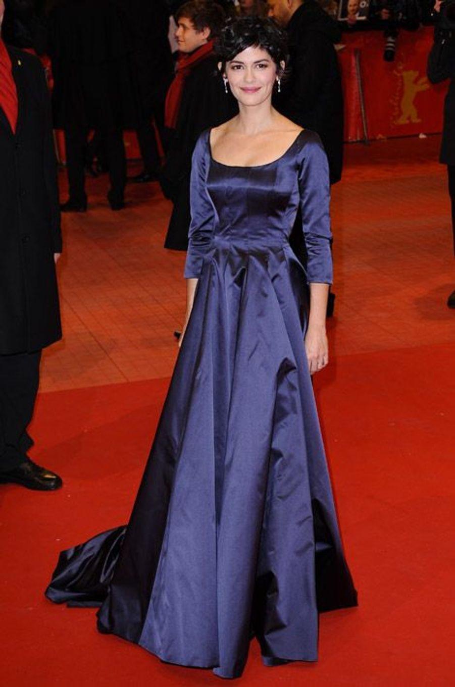 L'actrice Audrey Tautou en Prada lors du festival international du film de Berlin, le 5 février 2015