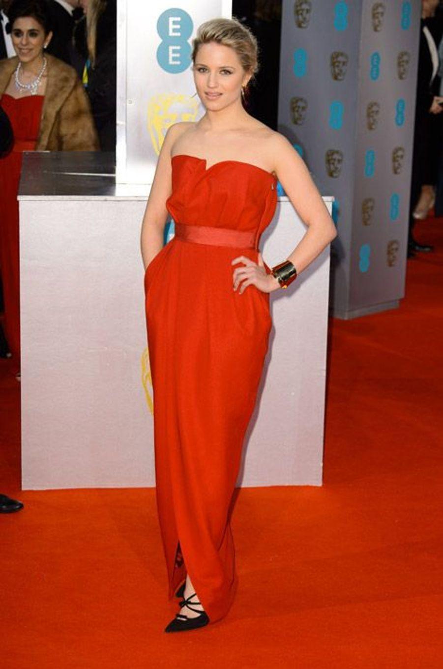 L'actrice Dianna Agron en Lanvin lors de la cérémonie des BAFTA le 8 février 2015