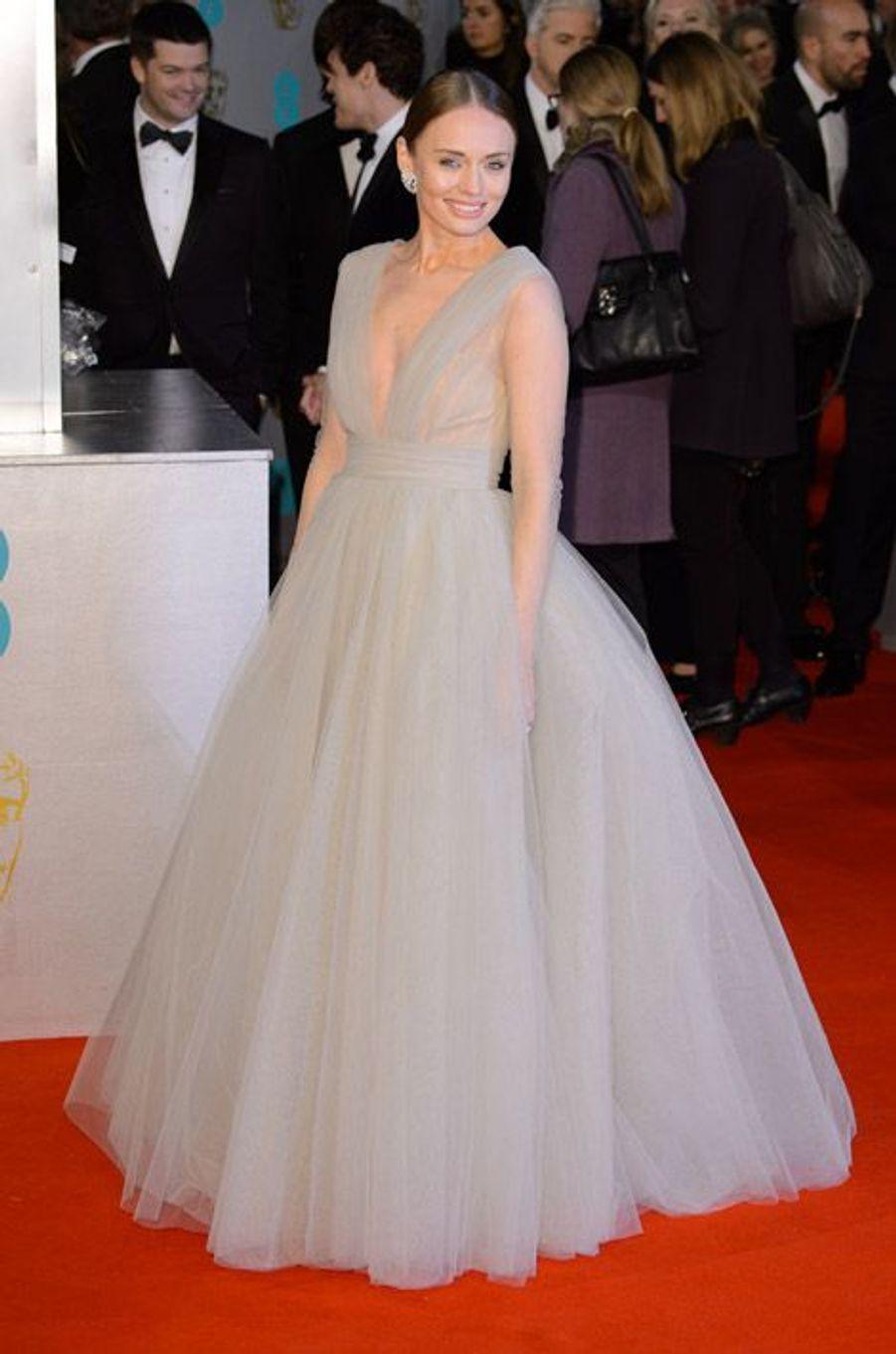 L'actrice Laura Haddock en Ashi Studio lors de la cérémonie des BAFTA le 8 février 2015