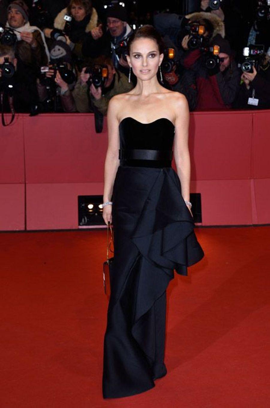 Natalie Portman en Christian Dior lors du festival international du film de Berlin, le 8 février 2015