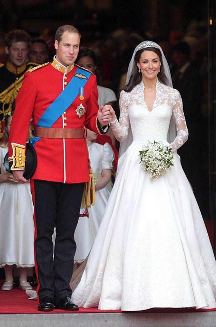 Kate Middleton et le prince Wiliam le jour de leur mariage, le 29 avril 2011