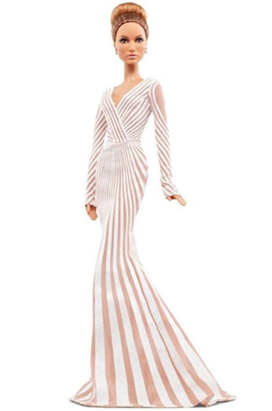 La Barbie inspirée de Jennifer Lopez lors de la cérémonie des Oscars en 2012