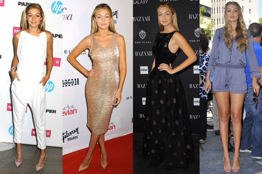 """Gigi Hadid, 19 ans : elle a posé pour """"Elle"""" ou """"Vogue"""" et a fait ses premiers pas de Fashion Week à new York en septembre dernier"""