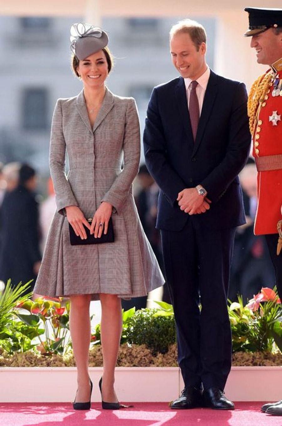 Kate Middleton, 32 ans, pour sa première sortie officielle depuis l'annonce de sa grossesse